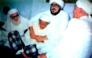 Mbah Mangli Kyai Hasan Mangli bersama Sayyid Muhammad